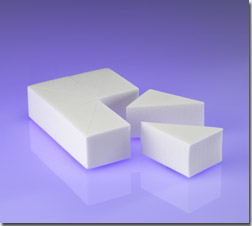 8 Count Latex Free Wedge Sponge Block, White LD Foam