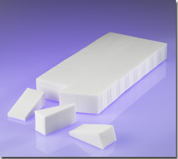 36 Count Latex Free Wedge Sponge Block, White LD Foam