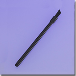 Angled Nylon Lip Brush, Black Handle