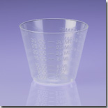 1 Ounce Plastic Graduated Measuring Cup